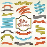 Retro ribbons cuttings composition poster Stock Photos