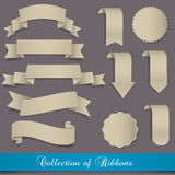Retro ribbons and labels Stock Photos