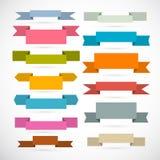 Retro Ribbons, Labels, Tags Set Stock Photo