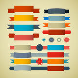 Retro Ribbons, Labels, Tags Set Royalty Free Stock Photography