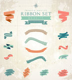 Retro ribbons set Royalty Free Stock Images