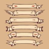 Retro Ribbons Set Royalty Free Stock Images