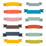 Retro Ribbons Set Illustration Set Stock Photography