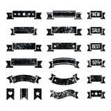 Retro ribbons, vintage bookmarks set -. Vintage ribbons set isoalted on white Royalty Free Stock Image