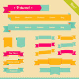 Retro ribbons Royalty Free Stock Images