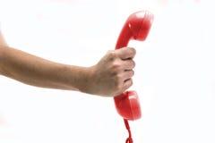 Retro ricevitore telefonico rosso fotografia stock libera da diritti