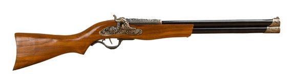 Retro rifle isolated on the white background Stock Image