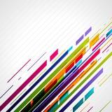 Retro righe astratte di tecnologia nella prospettiva Immagine Stock