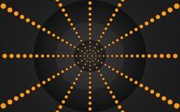 Retro Ring van Oranje Punten, Grafisch Ontwerp - Behang royalty-vrije illustratie