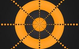 Retro Ring van Oranje Punten, Grafisch Ontwerp - Behang stock illustratie