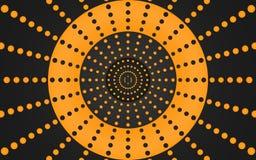 Retro Ring van Oranje Punten, Grafisch Ontwerp - Behang vector illustratie