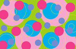 Retro rings - sweet. Illustrated background pattern for all usage Royalty Free Stock Photos