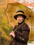 Retro ritratto della donna Fotografia Stock