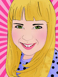 Retro ritratto della ragazza royalty illustrazione gratis