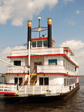 Retro Riverboat. Paddle-wheeler boat at dock in Florida Royalty Free Stock Photography