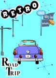 Retro road trip Stock Photo