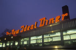 Retro roadside diner Stock Photography