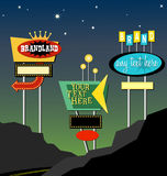 Retro roadside neon signs 1 royalty free illustration