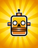 Retro Robot. Illustration of a retro robot Royalty Free Stock Images