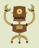 Retro Robot. Illustraion of Retro Robot character Royalty Free Stock Photography