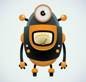 Retro Robot. Cute Cartoon Character Stock Image