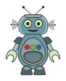 Retro Robot. Cute retro robot illustration Stock Photo