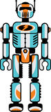 Retro robot. Isolated on white. Vector illustration Stock Photos