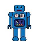 Retro robot di vettore Immagini Stock Libere da Diritti