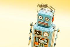 Retro robot toy. Retro robot toy Royalty Free Stock Photos