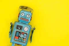 Retro robot toy. Retro robot toy Royalty Free Stock Photo