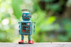 Retro robot toy. Retro robot toy Stock Photography