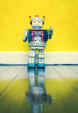 Retro robot toy Stock Photography