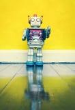 Retro robot toy Stock Photography