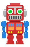Retro Robot 2. Vintage retro graphic red robot illustration Royalty Free Stock Images