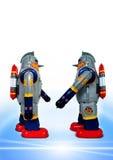 retro robotar två Royaltyfri Fotografi