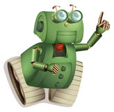 Retro- Roboter Stockfotografie