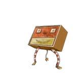 Retro robotkarakter Royalty-vrije Stock Foto's