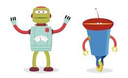 Retro robots Stock Photos