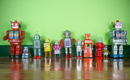 Retro robots Royalty Free Stock Photos
