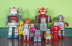 Retro robots Royalty Free Stock Photo