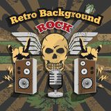 Retro Rock Background Stock Images