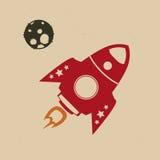 Retro rocket Stock Photography