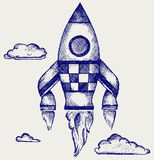 Retro rocket Stock Photography