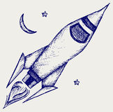Retro rocket Royalty Free Stock Photography