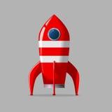 Retro rocket ship. Stylized vector illustration of a retro rocket ship Stock Images