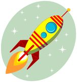 Retro Rocket vector Royalty Free Stock Photography