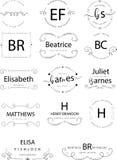 Retro rocznik insygnie, logotypy ustawiający lub Wektorowi projektów elementy, biznesów znaki, logowie, tożsamość, etykietki, odz ilustracja wektor