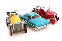 Retro rocznik kolekcja zabawkarscy samochody Fotografia Royalty Free