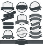Retro rocznik odznaka, etykietka i sztandaru set, Zdjęcie Royalty Free