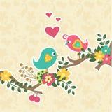 Retro rocznik pary ptak Obrazy Royalty Free